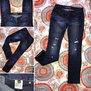 EXPRESS ripped skinny/slim legged denim jeans